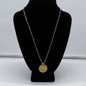 Safia Day Wrap Gold coin necklace